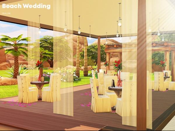 Sims 4 Beach Wedding venue by Pralinesims at TSR