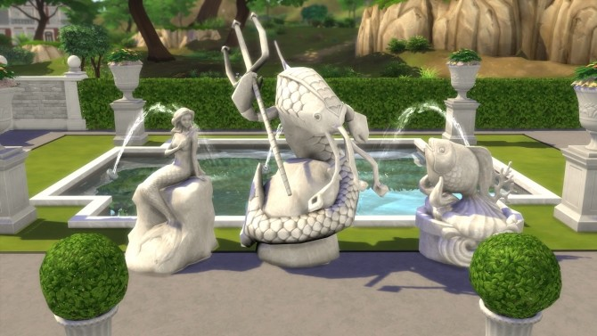 Sims 4 Aquatic Sculptures from TS3 by TheJim07 at Mod The Sims
