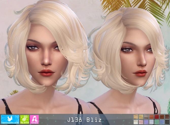 Sims 4 J138 Bliz hair (P) at Newsea Sims 4
