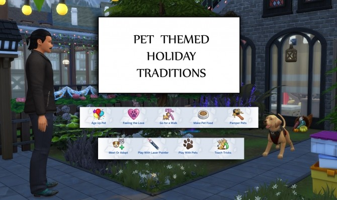 Pet Themed Holiday Traditions by icemunmun at Mod The Sims image 1855 670x397 Sims 4 Updates