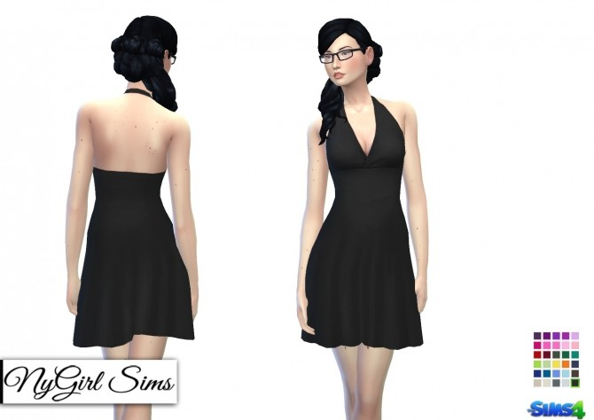 Simple Halter Flare Sundress at NyGirl Sims image 1862 670x474 Sims 4 Updates