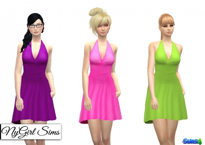 Simple Halter Flare Sundress at NyGirl Sims image 1872 670x474 Sims 4 Updates