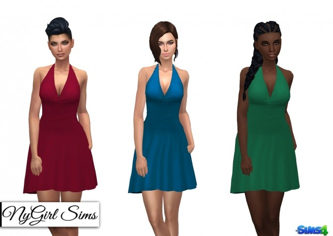 Simple Halter Flare Sundress at NyGirl Sims image 1881 670x474 Sims 4 Updates
