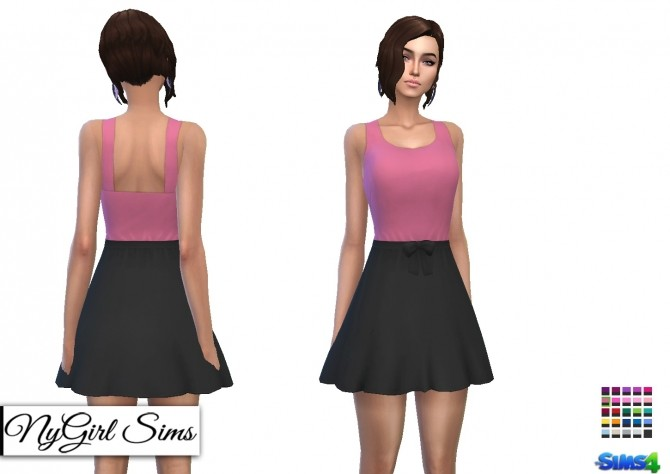 Gathered Waist Sundress with Bow at NyGirl Sims image 1891 670x474 Sims 4 Updates