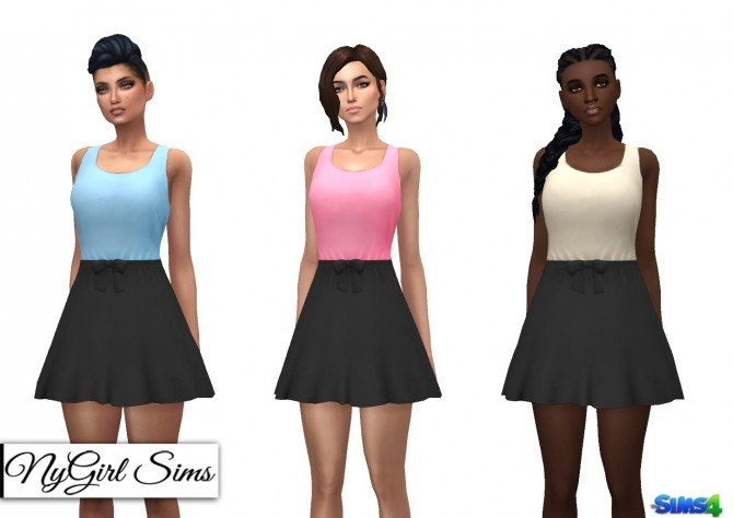 Gathered Waist Sundress with Bow at NyGirl Sims image 1901 670x474 Sims 4 Updates