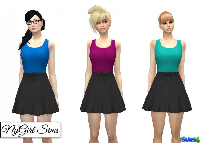 Gathered Waist Sundress with Bow at NyGirl Sims image 1912 670x474 Sims 4 Updates