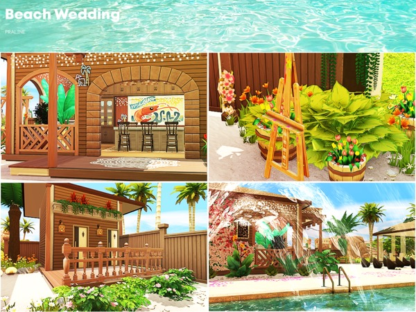 Beach Wedding venue by Pralinesims at TSR image 192 Sims 4 Updates