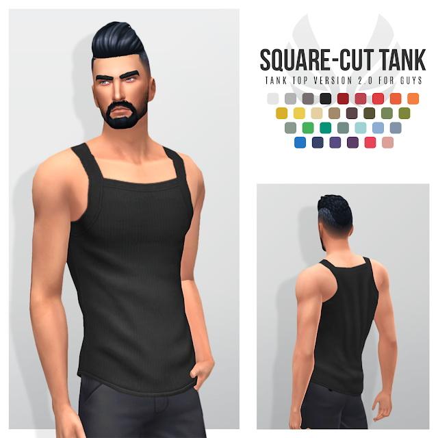 Square Cut Tank Version 2.0 at Simsational Designs image 1922 Sims 4 Updates