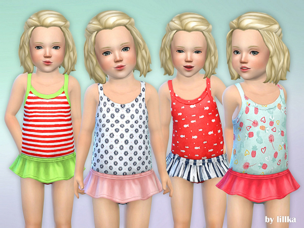 Sims 4 Toddler Swimsuit P01 by lillka at TSR