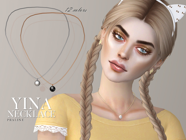 Sims 4 Yina Necklace by Pralinesims at TSR