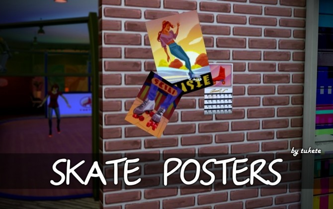 Skate Posters at Tukete image 1961 670x422 Sims 4 Updates
