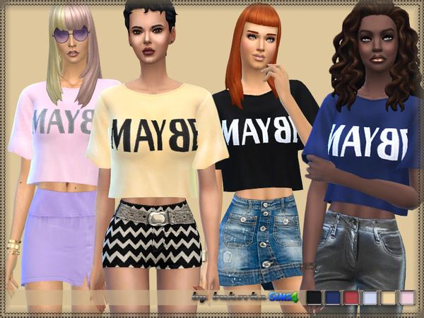 Sims 4 Shirt Maybe by bukovka at TSR