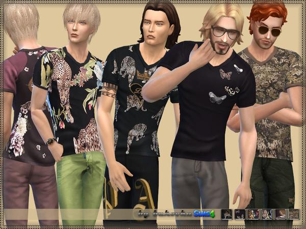 Sims 4 T shirt for men by bukovka at TSR