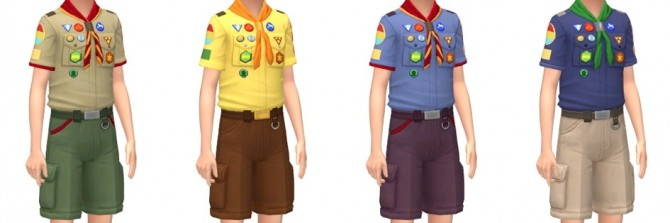 Scouts Uniform & Caps at Marvin Sims image 2052 670x223 Sims 4 Updates