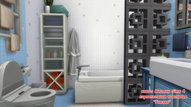 Blue bathroom at Sims by Mulena image 2053 670x376 Sims 4 Updates