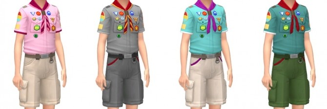 Scouts Uniform & Caps at Marvin Sims image 2062 670x223 Sims 4 Updates