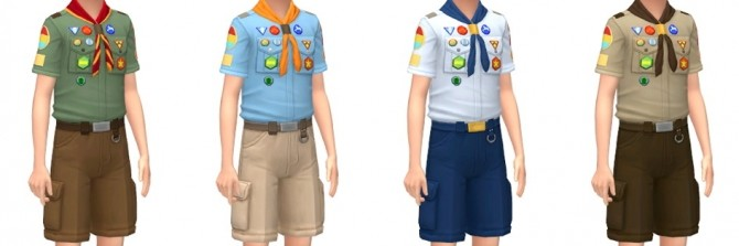 Scouts Uniform & Caps at Marvin Sims image 2072 670x223 Sims 4 Updates