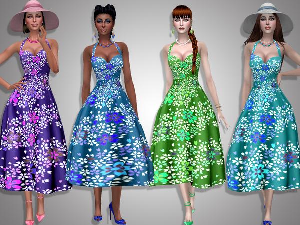 Sims 4 Sakura dress by Simalicious at TSR