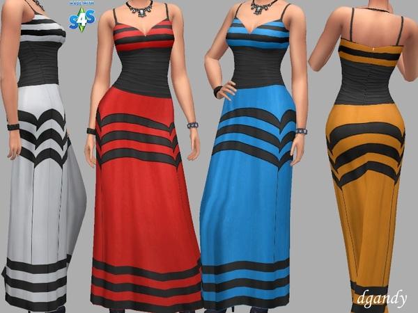 Sims 4 Alisha dress formal by dgandy at TSR