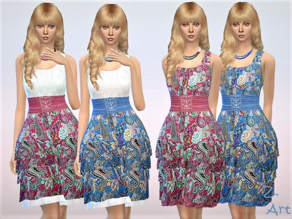 Sims 4 Summer 18 02 romantic summer dress by Zuckerschnute20 at TSR
