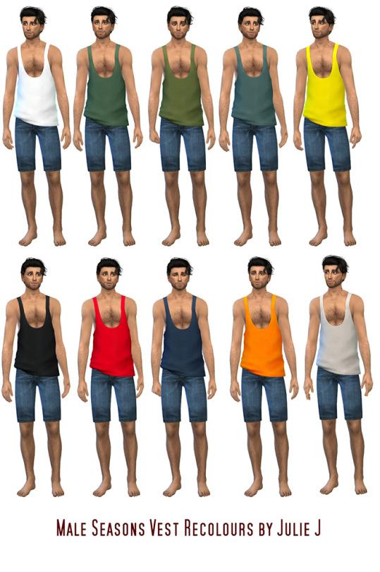 Sims 4 Seasons Male Vest Recolours at Julietoon – Julie J
