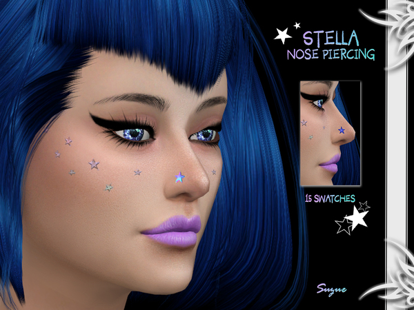 Sims 4 Stella Nose Piercing by Suzue at TSR