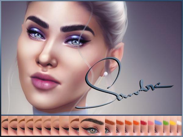 Sims 4 Sandra Eyebrows by KatVerseCC at TSR