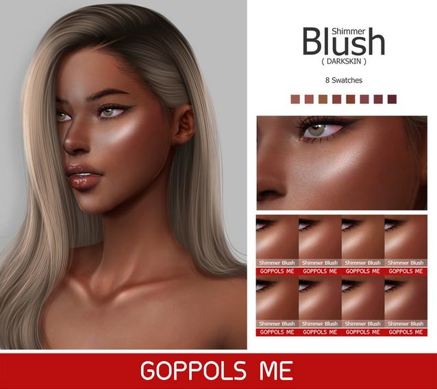 GPME Shimmer Blush Darkskin at GOPPOLS Me image 2161 Sims 4 Updates