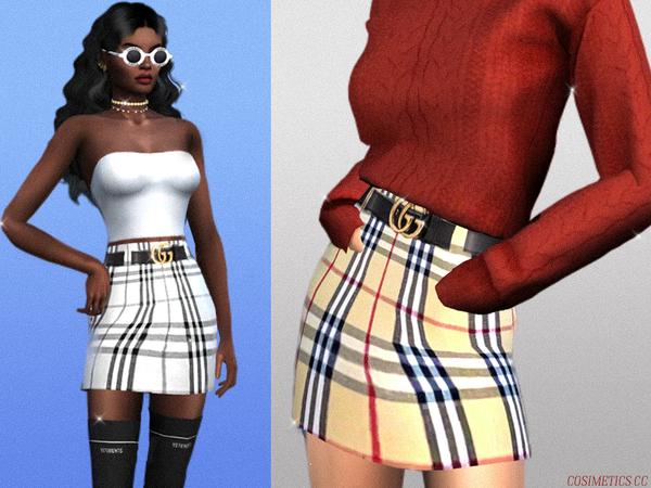 Sims 4 Designer skirt by cosimetics at TSR