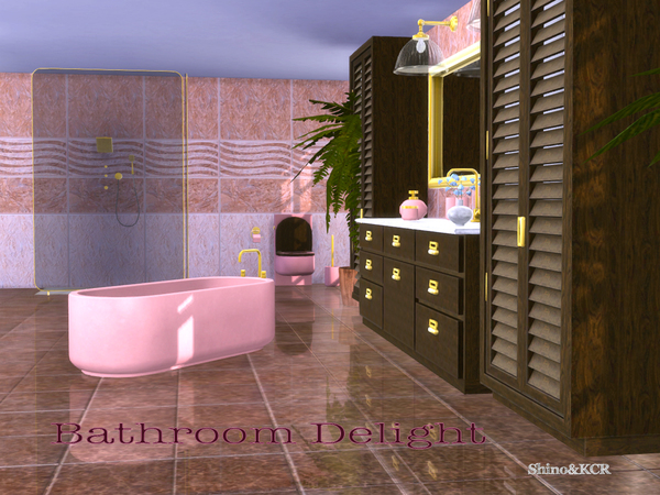 Bathroom Delight by ShinoKCR at TSR image 223 Sims 4 Updates