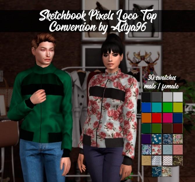 Sims 4 Sketchbook Pixels Loco Top Conversion at Astya96