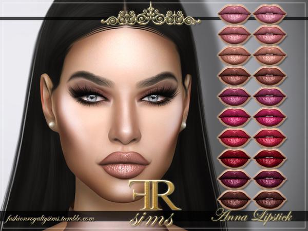 Sims 4 FRS Anna Lipstick by FashionRoyaltySims at TSR