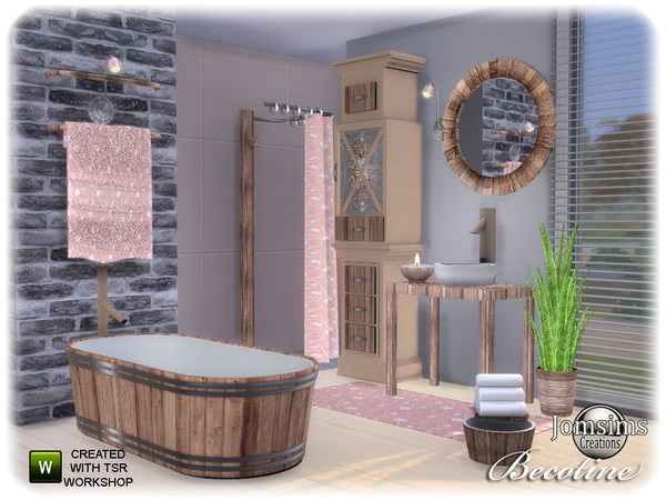 Becotine bathroom by jomsims at TSR image 2314 Sims 4 Updates