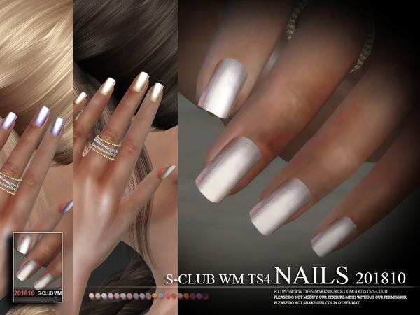 Sims 4 Nails 201810 by S Club WM at TSR