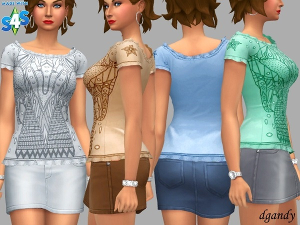 Claire top by dgandy at TSR image 2320 Sims 4 Updates