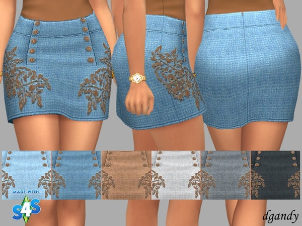 Sims 4 Demi skirt by dgandy at TSR