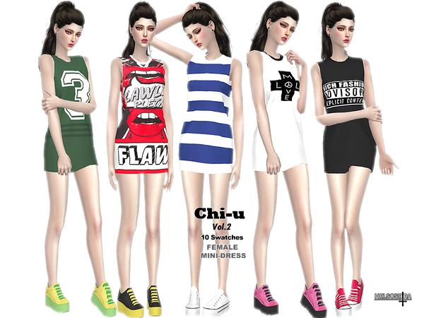 Sims 4 CHI U Vol.2 Mini Dress by Helsoseira at TSR