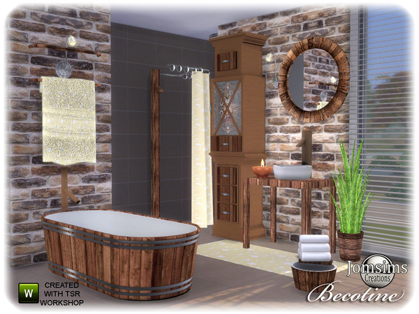 Becotine bathroom by jomsims at TSR image 2412 Sims 4 Updates