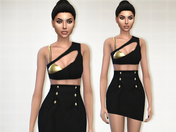 Sims 4 Athena dress by Puresim at TSR