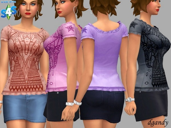 Claire top by dgandy at TSR image 2418 Sims 4 Updates