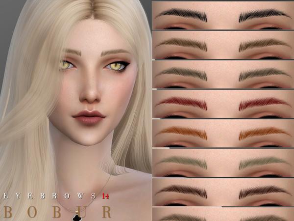 Sims 4 Eyebrows F14 by Bobur3 at TSR