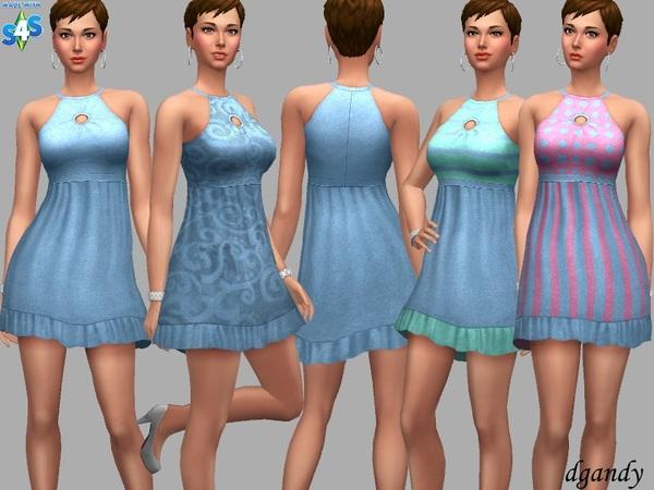 Sims 4 Alisha dress by dgandy at TSR