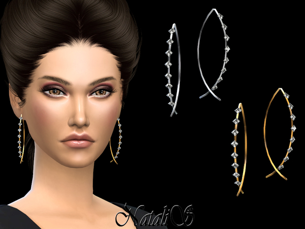 Fish shaped earrings with crystals by NataliS at TSR image 2420 Sims 4 Updates