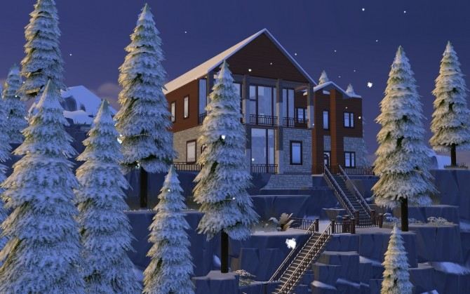 Winter Mountain Lodge by catdenny at Mod The Sims image 2431 670x419 Sims 4 Updates