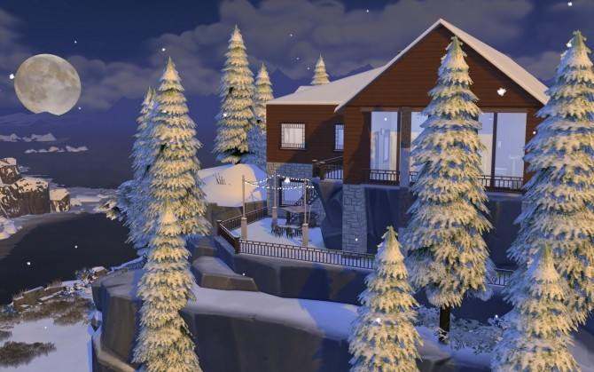 Winter Mountain Lodge by catdenny at Mod The Sims image 2441 670x419 Sims 4 Updates