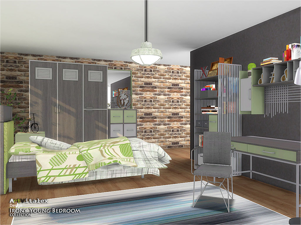 Irony Young Bedroom by ArtVitalex at TSR image 245 Sims 4 Updates