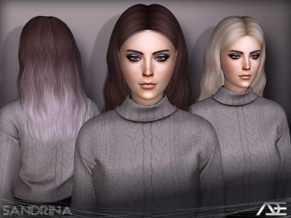 Sims 4 Sandrina hair by Ade Darma at TSR