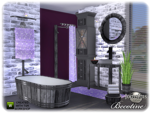 Becotine bathroom by jomsims at TSR image 2511 Sims 4 Updates