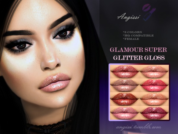 GLAMOUR SUPER GLITTER GLOSS by ANGISSI at TSR image 2513 Sims 4 Updates