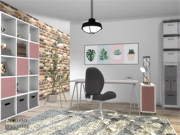 Jenna Office by ArtVitalex at TSR image 256 Sims 4 Updates